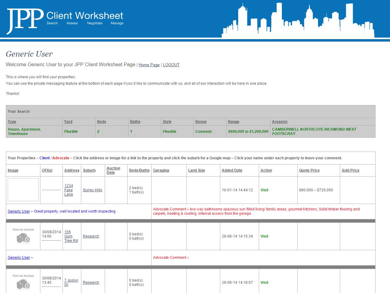 JPP Client Worksheet
